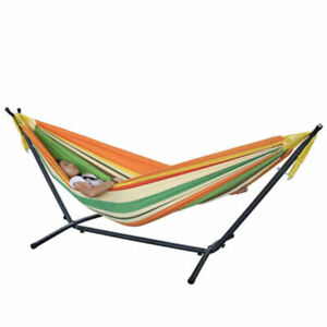 Double Hammock with Steel Stand Includes Carrying Bag-$99