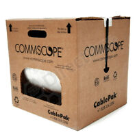 COMMSCOPE RG6 WHITE COAXIAL CABLE 1000FT PULL BOX 18GA