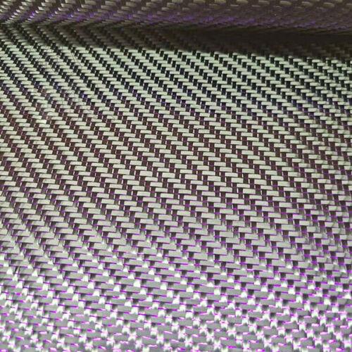 3K Carbon fiber & Metallic Purple reflection mixed cloth Twill weave 100*50cm