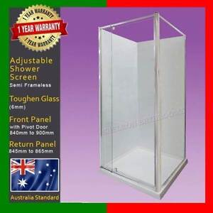 Adjustable Shower Screen - Shelronbathrooms Closing Down Sales Burwood Whitehorse Area Preview