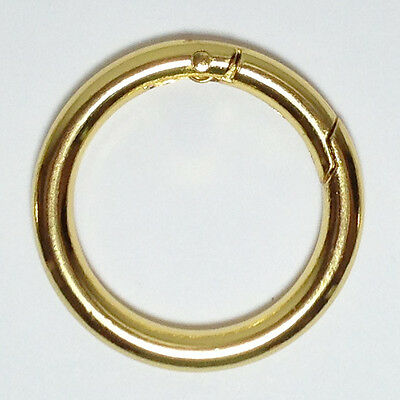 """2 Gold Plated Spring Gate O-Ring 1 1/4"""" - Free Shipping"""