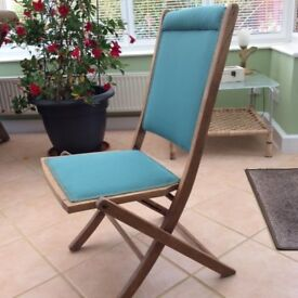Antique re-covered folding chair