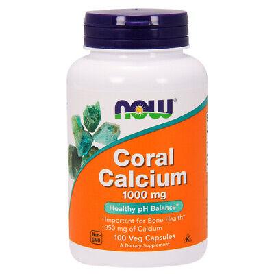 100 Kapseln Calcium (Coral Calcium, 100% Original Okinawa, 1000mg X 100 Veg Kapseln- Now Foods)