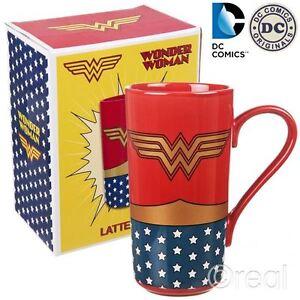 New DC Wonder Woman Costume Latte Mug Coffee Retro Justice League Official