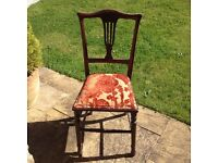 Antique chair, re-covered