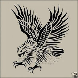 Reusable-airbrush-tattoo-stencils-Eagle-Large-size