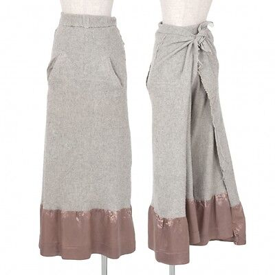 COMME des GARCONS skirt switching wrap skirt pants Size S(K-34083)