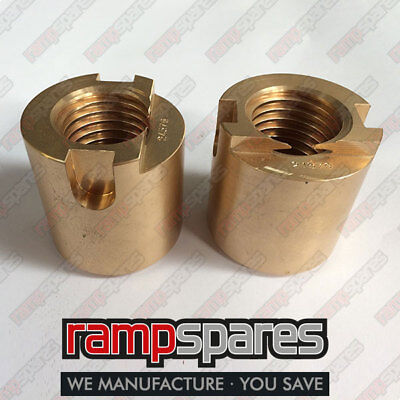 Two Tecalemit Mark 6 Main Lift Nut 2 post SF8837 Garage Lift ramp spares parts