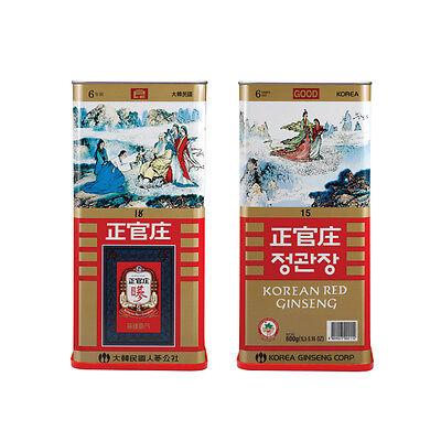 CHEONGKWANJANG  6yr Korean Red Ginseng GOOD Grade Canned 300G 15 Roots 良蔘 Panax