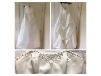 Ivory organza bridal dress