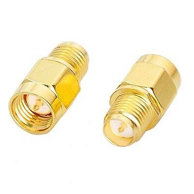 Rp-sma Stecker Antenne (Adapter SMA-Stecker männlich male Reversed RP-SMA mit Pin + Außengewinde Antenne)