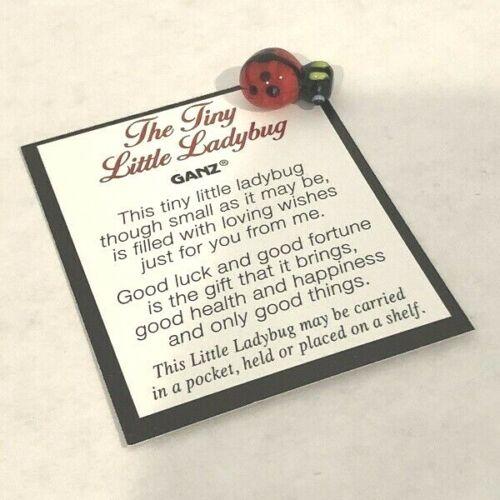 Ganz Tiny Lucky Little Ladybug Pocket Token/Charm with Story/Poem Card