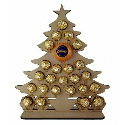 Christmas Tree Chocolate Orange and Ferrero Rocher Holder Advent Calendar Reuse ()