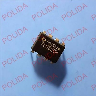 10pcs Op Amp Ic Ti Dip-8 Tl082cp Tl082cpe4