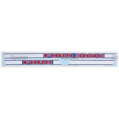 Ford 3000 Gas 1968-1975 3-cyl Tractor Basic Hood Decal Set Us Made