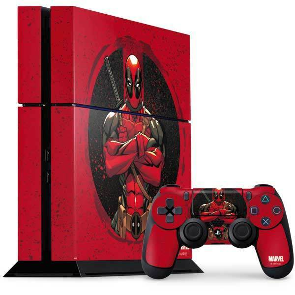 Marvel Deadpool PS4 Console and Controller Bundle Skin - Merc With A Mouth