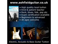 Guitar & Bass Lessons from just £10. Beginners to advanced 1 to 1 lessons. Kind & patient tutor.