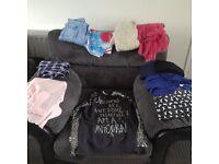 Girls large clothes bundle age 12- 13 including holister jumper