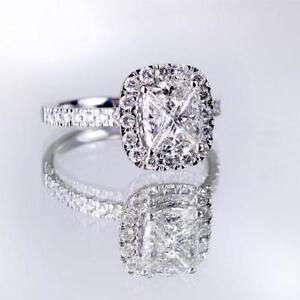 *NEW* 1.40 ctw 14K White Gold ENGAGEMENT RING Retail $7,499.00