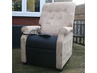A J WAY & Co DUAL MOTOR ELECTRIC RISE RECLINE CHAIR - MOBILITY ARMCHAIR 2 YRS OLD - RRP £1752