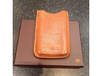 Mulberry tan leather iPhone case