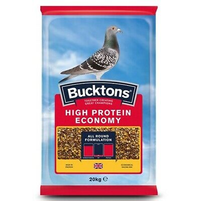 Bucktons High Protein Economy Pigeon Feed 20kg - Economical Racing Food Seed Mix