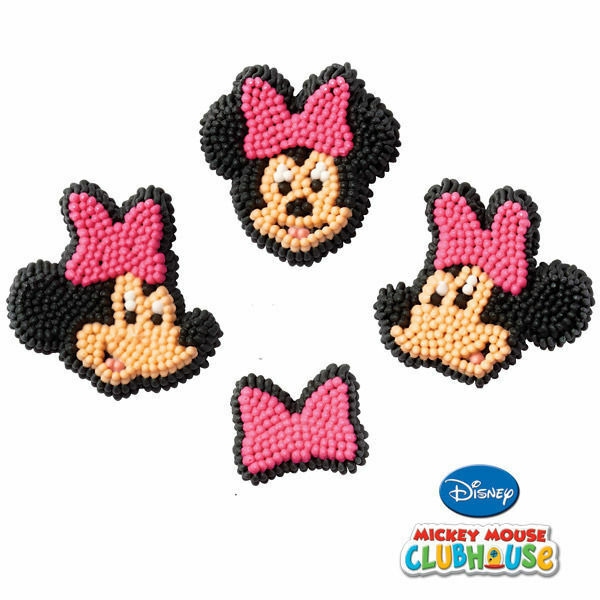 Minnie Mouse Icing Decorations 12 ct from Wilton 6363 NEW