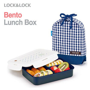 lock lock new bento lunch box set with insulated bag 1 boxes large navy. Black Bedroom Furniture Sets. Home Design Ideas