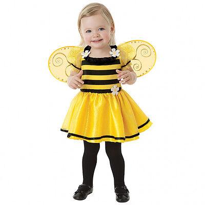 Biene Gr. 80 86 Kinder Kostüm Mädchen Kleid + Flügel  Karneval Fasching (92)