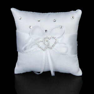 White Ring Bearer or Page Boy Heart Pillow - New!