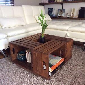 Table en caisses de bois faite à la main Saint-Hyacinthe Québec image 2