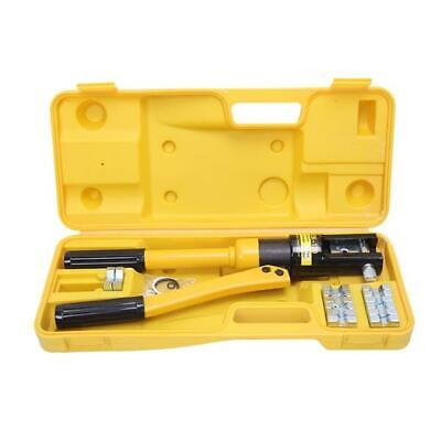 12 Ton Hydraulic Wire Terminal Crimper Crimping Tool Pliers Set W 8 Dies