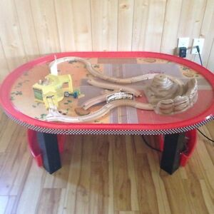 Cars table with tracks