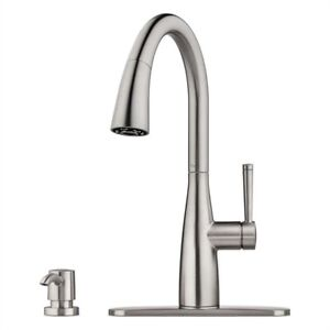 Pfister Raya Stainless Steel One-Handle Pull-Down Kitchen Faucet