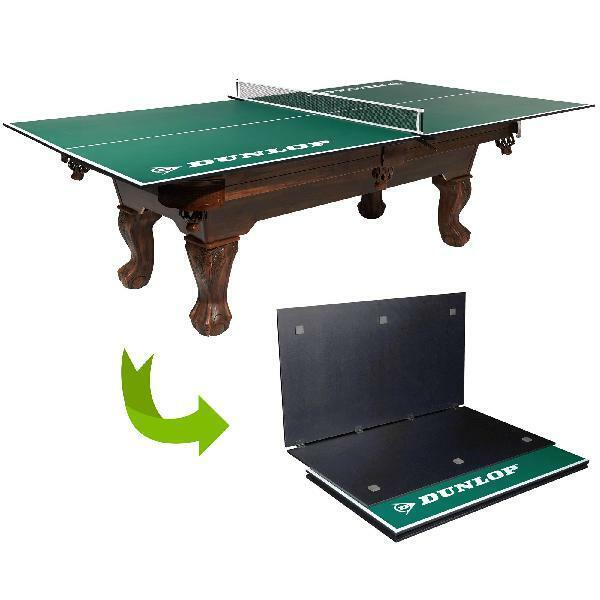 Table Tennis Ping Pong Conversion Top Pre-assembled Over Pool Game Room Basement