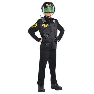 Boys Toddler 3-4 Police Swat Officer Deluxe Costume  - Police Officer Costume Toddler Boy