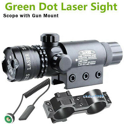 Green Dot laser sight outside adjust For rifle gun scope remote switch 2 mount