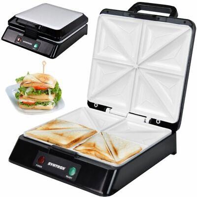 Sandwichmaker XXL mit Keramikplatten Thermostat und Edelstahldekor Syntrox