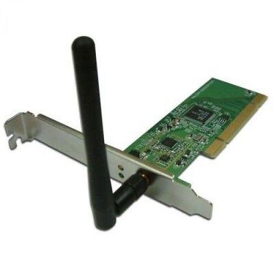 BIGtec BIG111 Wireless LAN PCI Karte Card 54Mbps WLAN Netzwerkkarte Antenne fix