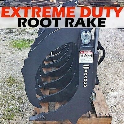 Bradco 72 Extreme Duty Rakeroot Grapplefits Skid Steersalso Use As Scarifier