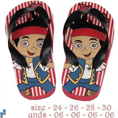 Flip Flops Zehentreter Pirate Jake  Badeschuhe  Jungen Gr. 28 30 32 34 (Pirate Jake)