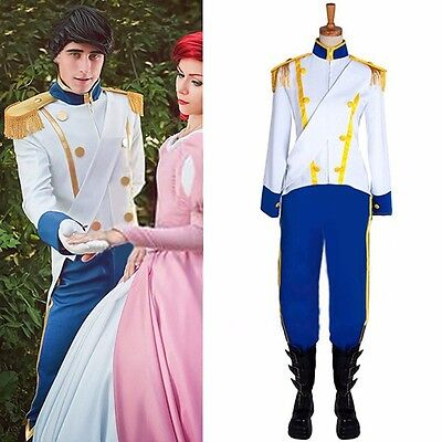 Custom-Made the Little Mermaid Prince Eric Cosplay Costume Halloween Men Clothes - Prince Eric Costume Little Mermaid
