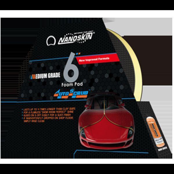 "Nanoskin Car Care AS-003 6"" Autoscrub Medium Foam Clay Pad SUPER FAST SHIPPING"