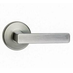 N2LOK VITUS ROUND PASSAGE LEVER DOOR LOCK HANDLE SET 60-70MM SATI