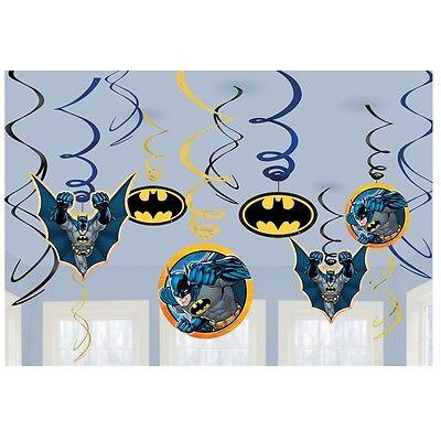 Batman Hanging Swirl Decoration Birthday Party Supplies Bat Man Ceiling Dangler
