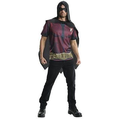Batman Arkham City Robin Adults Costume T-shirt Cape & - Costume Robin