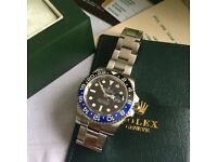 Bat man black face blue and black bezel mens sweeping automatic watch rolex flawless design waterP