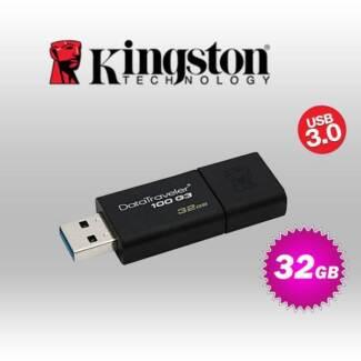 kingston 32GB USB 3.0 FLASH DRIVE (KINDT100G3/32GB)