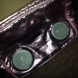 Hot Pink Speaker Bag, Speakers Battery Operated