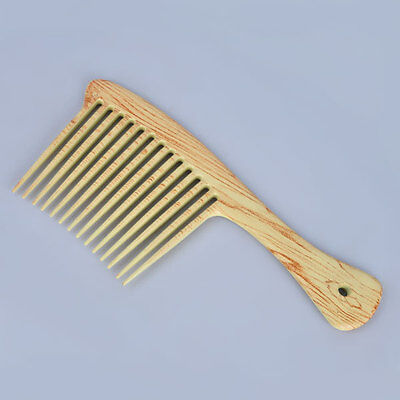 Wooden Large Wide Tooth Home Use Hair Detangling Hairdressing Rake Comb New